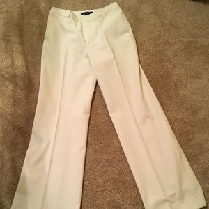 White Ellen Tracy Dress Pants